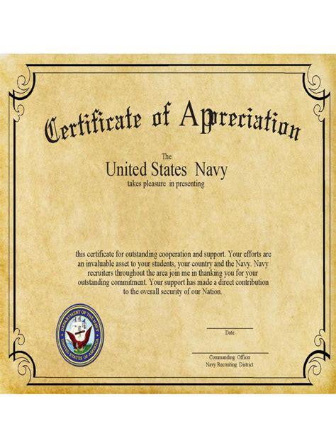 certificate  appreciation   templates