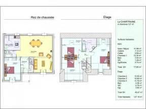 Plan Maison Etage 3 Chambres by Plan Maison 4 Chambres 1 Etage