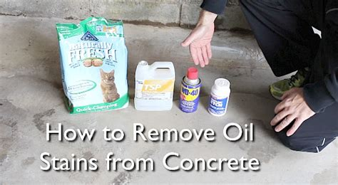 discover how to remove stains from concrete