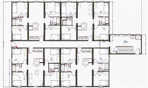 3 townhouse floor plans apartment plans 8 plex inspiration house plans 81231