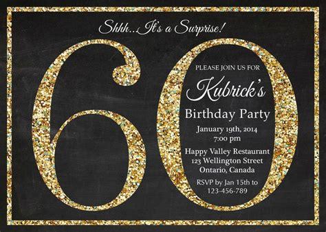 birthday invitation gold glitter birthday party invite