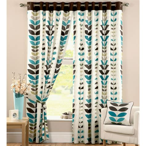 curtains in kitchen teal green print curtains teal print