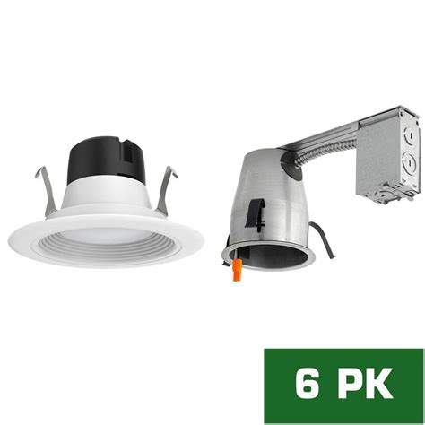 remodel recessed lighting kit envirolite 4 in led recessed remodel housing with