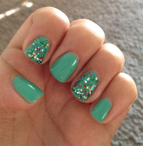 mint  glitter gelish nails nails nails  nails