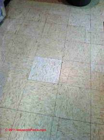 how to submit photos to identify floor tiles sheet flooring that may contain asbestos