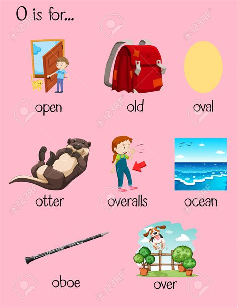 words with the letter o words letter clipart explore pictures