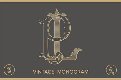 lp monogram pl monogram  shuler studio  atcreativemarket design tipografia ornamentos