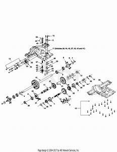 Troy Bilt 14az809h063 Gtx2446  2003  Parts Diagram For Transmission 618