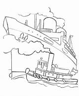 Ship Coloring Cruise Titanic Boats Boat Ocean Drawing Outline Ships Liner Fishing Sheets Tug Printable Colouring Dock Different Types Shapes sketch template