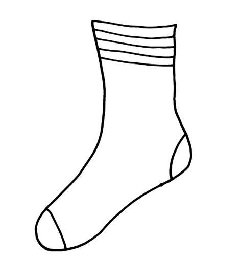 sock template 14 socks outline template images socks clip free fox in socks printable coloring pages
