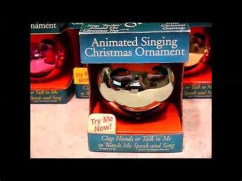 pbc animated singing christmas ornament youtube