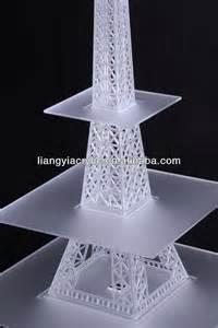 3 tier cupcake stand de gama alta de acrílico torre eiffel soporte de la