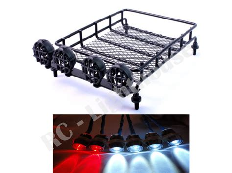 roof rack light bar 29 1 10 rc roof mounted luggage rack w light bar with