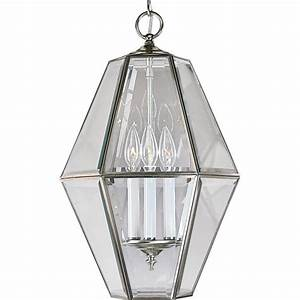 Progress lighting light brushed nickel foyer pendant