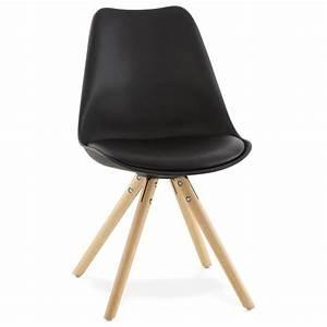Chaise Scandinave Noir : chaise moderne style scandinave nordica noir ~ Teatrodelosmanantiales.com Idées de Décoration
