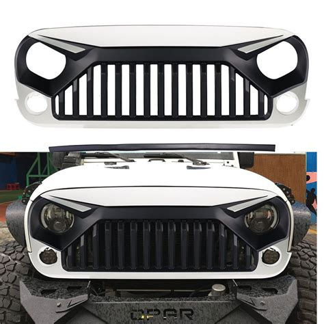 white jeep hood front angry bird w7 white grille hood for jeep wrangler jk