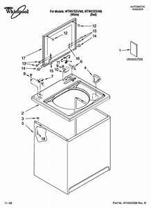 Whirlpool Model Wtw57esvw0 Residential Washers Genuine Parts