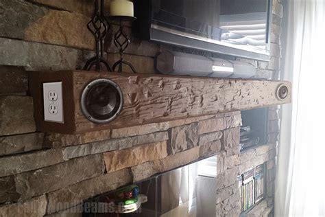 hollow mantels  built  speakers faux wood workshop