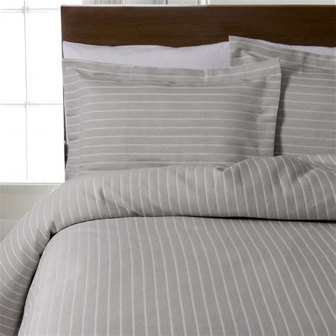 Design Port Bedding design port stripes silver grey 100 cotton bedding