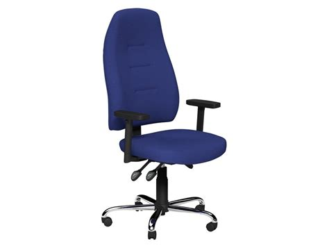 positura 3 lever task operator armchair with chrome base