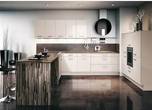 Cuisine Avec Plan De Travail : cuisine brillante avec un plan de travail en bois photo 7 ~ Dailycaller-alerts.com Idées de Décoration