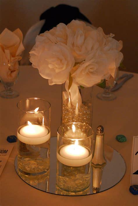floating candle  flower centerpiece centerpieces