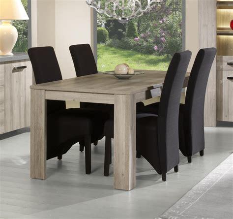 chaises table à manger salle a manger complete blanc laque but
