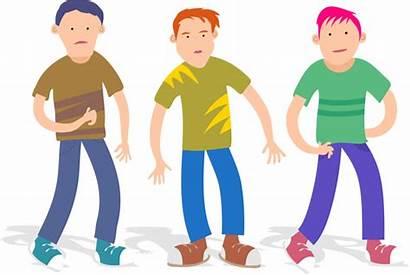 Boys Three Teenage Clipart Cartoon Ragazzi Teenagers