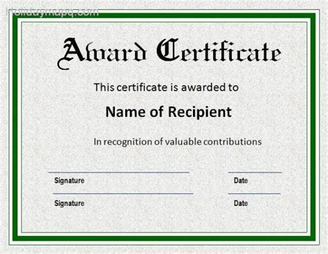 Tke Award Certifricate Template by Award Certificate Template Holiday Map Q Holidaymapq