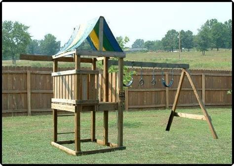 build  playset fort playhouse swingset wood plans easy  follow plans cd