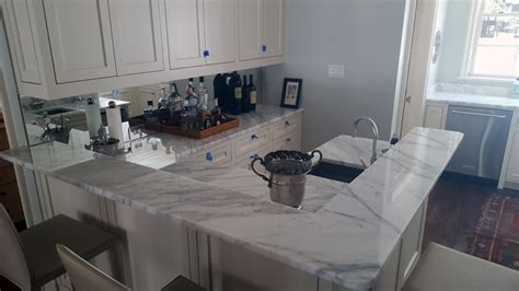 add white carrera marble countertops   kitchen