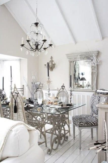 chic grey dining room chic dining room marceladick Shabby