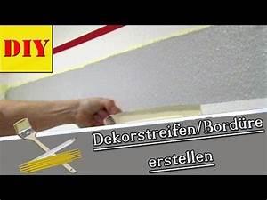Wand Stellenweise Streichen : w nde streichen mit streifenmuster dekorstreifen bord re youtube ~ Watch28wear.com Haus und Dekorationen