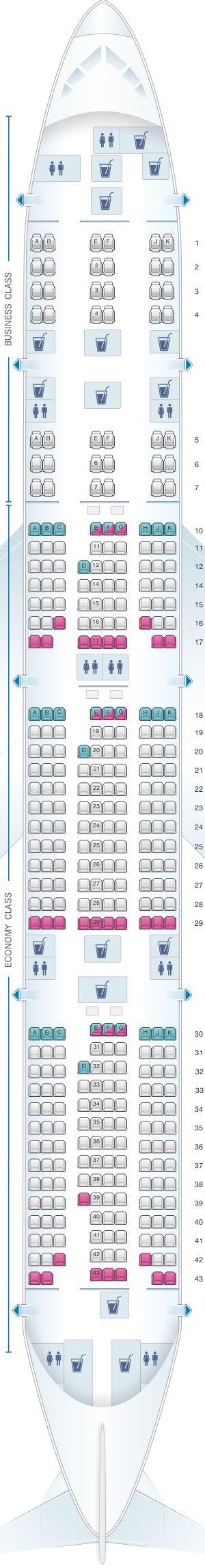 siege boeing 777 plan de cabine qatar airways boeing b777 300er 358pax