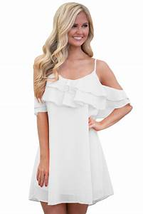 Baby Length And Weight Chart White Ruffle Double Layered Short Dress Wholesale