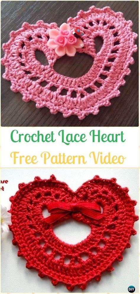 crochet heart applique  patterns