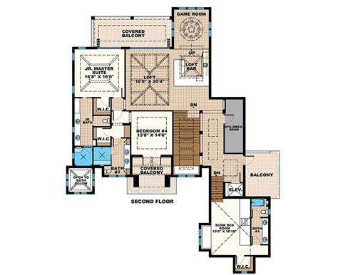 floor plans for master bedroom suites grand florida house plan with junior master suite budron