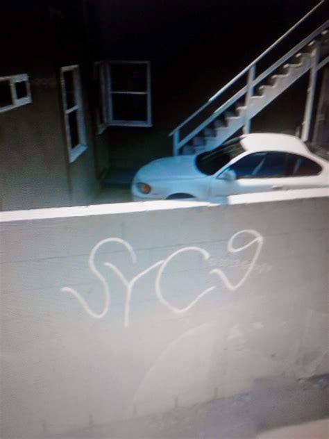 crip gangs graffiti school yard crip