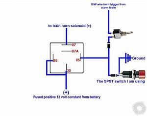 Car Alarm Relay Wiring Diagram 12 Volt Air Horn
