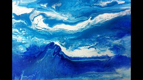 fluid abstract painting demo waves malen mit acrylfarben