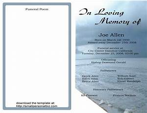 free funeral program templates find sample funeral With obituary pamphlet template