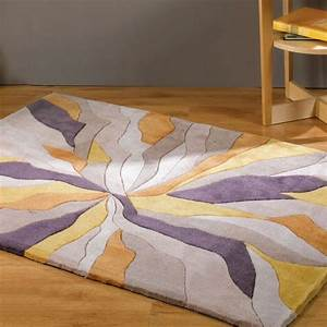 Tapis design infinite ocre par flair rugs for Tapis design avec canape cuir perpignan