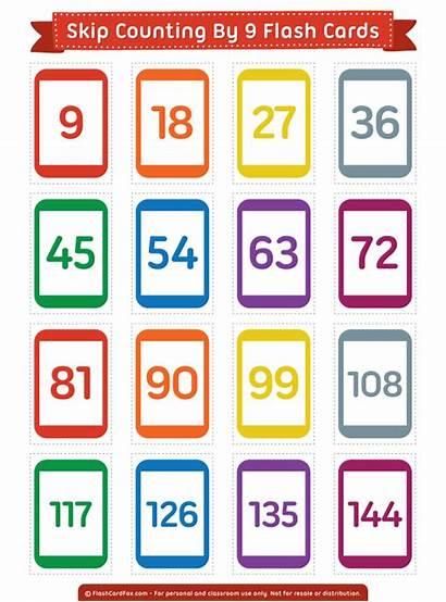 Counting Skip Cards Flash Printable Number Numbers