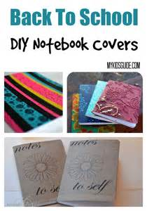 DIY Back to School Notebook Covers