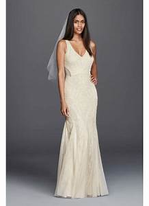 beaded illusion sheath casual wedding dress david39s bridal With beaded sheath wedding dress
