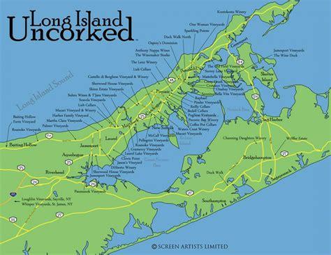 long island vineyards map map  long island vineyards