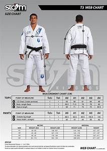 Depot Size Chart Storm T3 Bjj Gi Free Shipping In Canada And Usa Bjj Gear