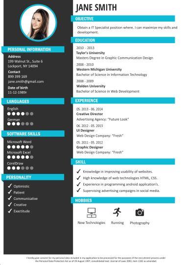 modelli  cv modello curriculum creatore  cv craftcv