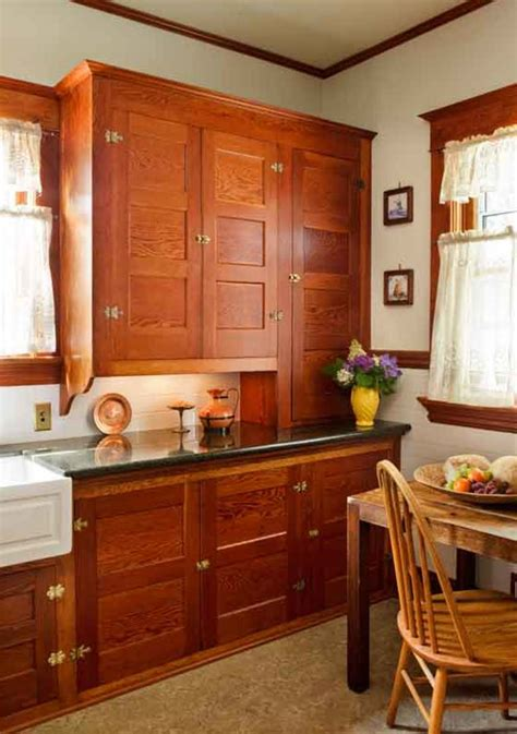 restored cabinets   renovated craftsman kitchen restoration design   vintage house