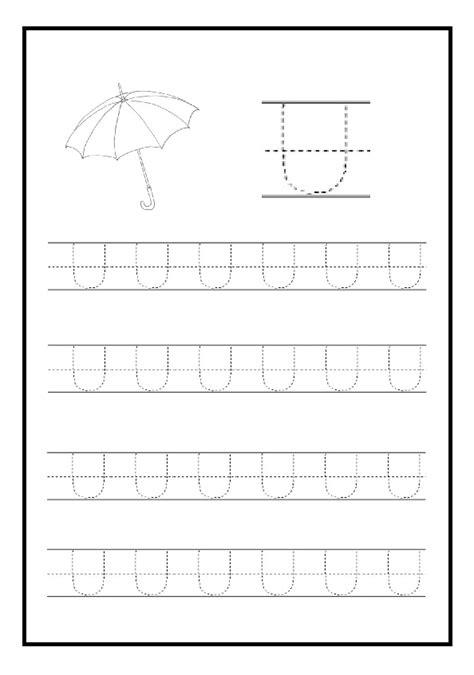 Uppercase Letter U Free Printable Worksheet For Kindergarten And Elementary School Preschool
